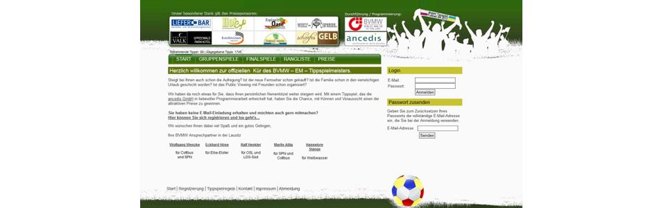BVMW Tippspiel zur EM 2012